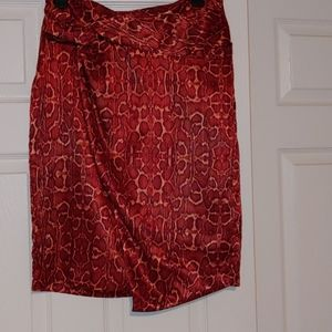 INC-Core Collection Skirt-(Size 6)Snake Skin Print